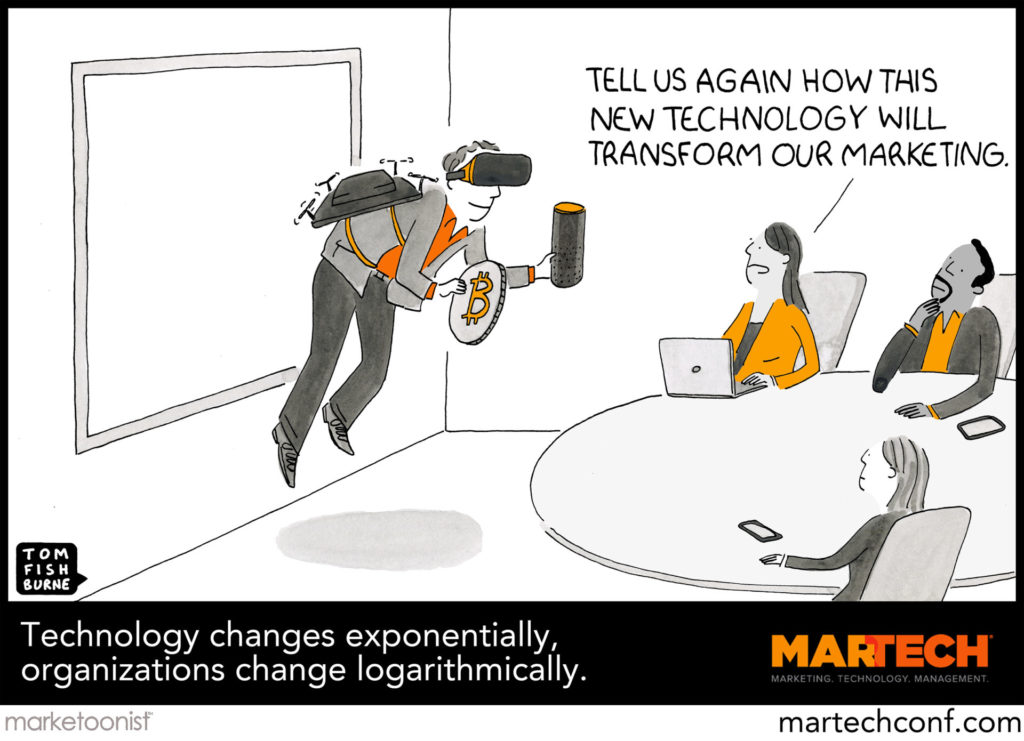 Caption Contest Winners Revealed! Presenting The Marketoonist's Official 2019 MarTech Cartoon